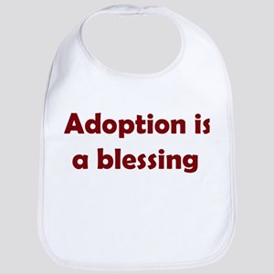 Blessing (maroon writing) Bib